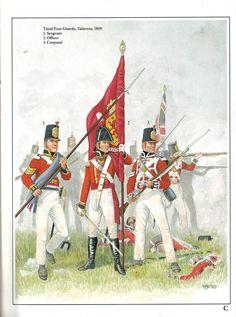 Sergente, ufficiale e caporale del 3 rgt. fanteria di linea