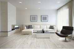 White Oak Wood Effect Porcelain Floor Tiles and Flooring