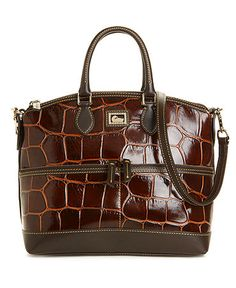 298 Dooney  amp  Bourke Croco Embossed Leather Satchel w  Pockets . I want  all f29696920fa3d