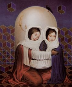 family in art Optical Illusion Paintings, Art Optical, Cool Illusions, Optical Illusions, Memento Mori, Illusion Pictures, Illusion Art, Surreal Art, Skull Art