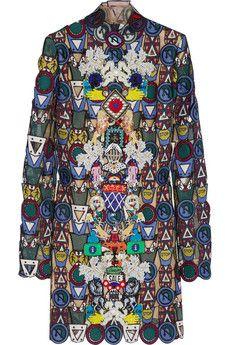 Mary Katrantzou Dixicult embellished macramé lace mini dress   NET-A-PORTER