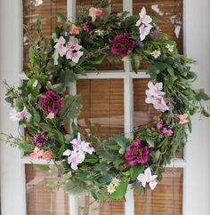 The Wreath Depot - Windsor Silk Spring Door Wreath - 22 in, $59.99 (http://www.thewreathdepot.com/windsor-silk-spring-door-wreath-22-in/)