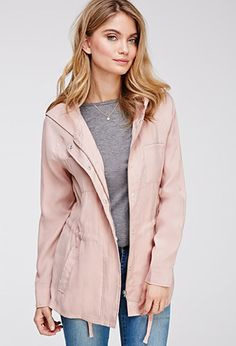 Hooded Twill Field Jacket - Jackets & Coats - 2049258929 - Forever 21 UK Order in S
