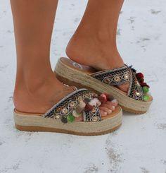 "Sandalias de cuero hecho a mano, sandalias artesanales, sandalias de cuero griego, Flatforms, ""Sophia"""