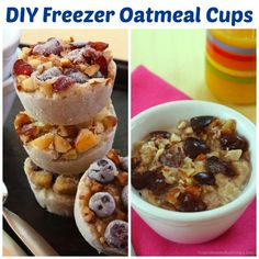 Get the kids in the kitchen to customize their own DIY Freezer Oatmeal Cups for a nutritious and delicious, easy and fun make-ahead breakfast.
