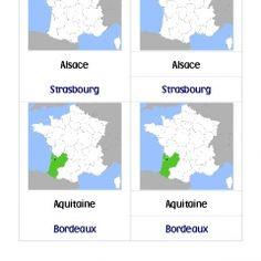 Nomenclature des régions de France - scripte