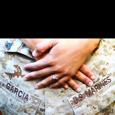 My engagement picture with my U.S Marine