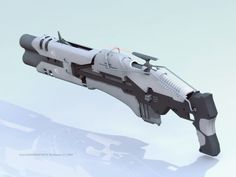 Sci-fi weapon - Plasma Rifle concept by Ivangraphics.