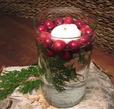 Bring nature indoors with berries, birchbark, branches and fragrant sprigs of balsam pine for a nature inspired decorating look. #decorating #nature #holidays #style