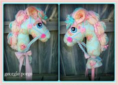 Pattern by whimsy woo Fun Crafts For Kids, Projects For Kids, Rocking Unicorn, Baby Penelope, Stick Horses, Sea Crafts, Horse Pattern, Horse Crafts, Hobby Horse