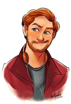 A Complete Dork. Peter Quill/Star Lord (C) MARVEL Peter Quill Male Cartoon Characters, Character Design Cartoon, Cartoon Man, Character Design References, Character Drawing, Character Design Inspiration, Character Illustration, Fantasy Characters, Marvel Drawings