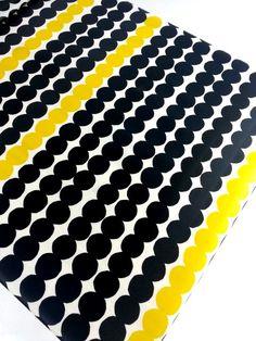 Oilcloth Marimekko oilcloth black dark by YulkisHomeDecor Laminated Cotton Fabric, Oilcloth, Marimekko, Black Dark, Patterns, Unique Jewelry, Handmade Gifts, Vintage, Etsy