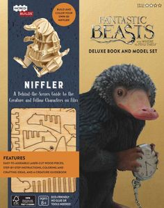 Kids can build their own customizable Niffler with this thrilling hardcover book and 3D wood model set from IncrediBuilds. This Fantastic Beasts and Where...
