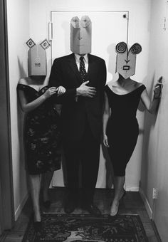 Masks: Saul Steinberg. Photo: Inge Morath. Pure genius.