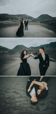Kenn Liang and Synin journeyed to Mount Bromo in East Java, Indonesia with photographer Omelette Studio to commemorate their engagement. These stunning images showcase the natural beauty of the lush locale – the perfect backdrop for this loving couple.