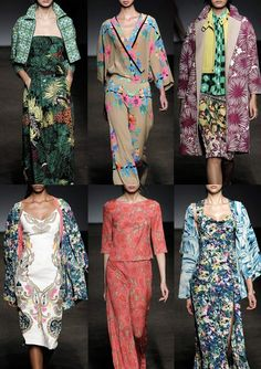 New York Womenswear Print Highlights Part 2 – Spring/Summer 2015 catwalks  - Tracy Reese from Patternbank: Rich Tropical Jacquards – Dahlia Florals – Watercolour Palm Leaves – Impressionist Floral Prints – Painted Floral Boarders – Inky Ethnic Blur – Decorative Embroidery & Embellishments – Geometric Jacquard