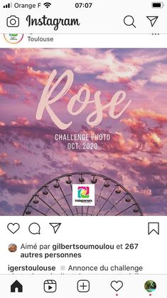 Octobre ROSE IGERS Toulouse Toulouse, Challenge, Instagram