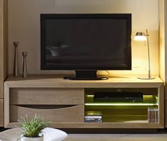 S jour savana on pinterest led salons and home - Meuble tv hauteur 70 ...