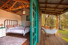 Country Cottage Calm - Adventure by Charlotte in Ulong , NSW Outdoor Areas, Outdoor Life, Natural Bathroom, Beach House Plans, House In Nature, Wooden Swings, Holiday Accommodation, Create Space, Tiny Living