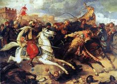 The Battle of Varna took place on November 10, 1444 near Varna in eastern Bulgaria. The Ottoman Army under Sultan Murad II defeated the Hungarian and Polish armies commanded by Władysław III of Poland (also King of Hungary) and John Hunyadi. It was the final battle of the Crusade of Varna.