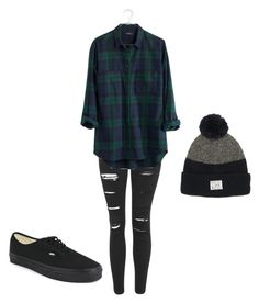 """Untitled #38"" by hannaahmariie on Polyvore featuring Topshop, Madewell, Vans and OBEY Clothing"