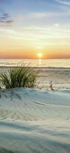 beach The post beach appeared first on Hintergrundbilder. Beach Art, Ocean Beach, Ocean Waves, Beautiful Sunset, Beautiful Beaches, Strand Wallpaper, Wow Photo, I Love The Beach, Seascape Paintings