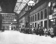 A scene from Victoria Station, c1900.