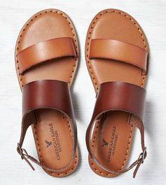 Tan AEO Colorblocked Slingback Sandal