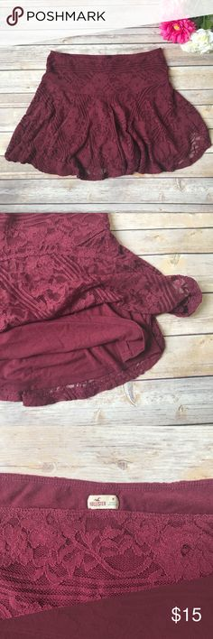 Hollister Lace Skirt Hollister Lace Skirt Still in good condition like new Hollister Skirts Mini