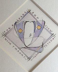 Peter Thornton - Decorated Versals  Escribiente Calligraphy Society - Workshops