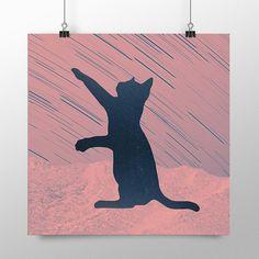 Placa decorativa - Space Cat - Decohouse