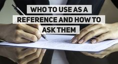 Looking for references for your CV? Here are some handy tips!