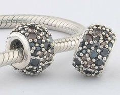 Multicolor Dots Birthstone Charm 925 Sterling Silver Pandora Compatible