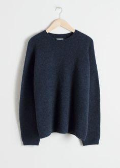 db322374a77 Alpaca Blend Sweater Blue Sweater Outfit