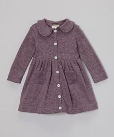 Plum Heather Wendy Pocket Organic Dress - Infant, Toddler & Girls | Daily deals for moms, babies and kids