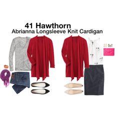 """Abrianna Longsleeve Knit Cardigan"" by katrinalake on Polyvore"