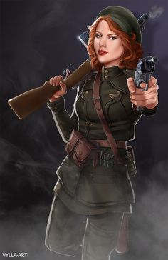 TIME FOR SOME ART : Natasha: The Soviet member of the Howling Commandos by Risa Hulett