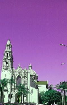 PicsArt edit of church corner of Figueroa & Adams. #Los Angeles