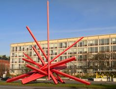 HANNOVER Skulptur Symphonie in red hanover germany