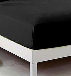 CC&DD-Fitted sheet,Velvety Brushed Microfiber,Twin/Full/Queen/King (Full, Black) //http://bestadjustablebed.us/product/ccdd-fitted-sheetvelvety-brushed-microfibertwinfullqueenking-full-black/