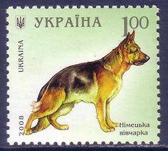 German Shepherd Dogs Ukraina MNH stamp 2008 Postage Stamp Art, Lucky Luke, Vintage Stamps, Tampons, Stamp Collecting, German Shepherd Dogs, Dog Breeds, Collections, Exotic Food