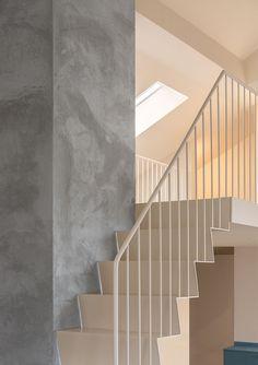 white metal stair rail at Casa Ljungdahl by Note Design Studio