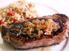 Grilled Steaks With Caramelized Shallot Butter Sauce | CDKitchen.com
