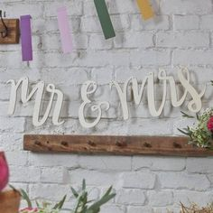 Mr And Mrs Wooden Bunting - Wooden Wedding Bunting - Mr & Mrs Bunting - Wedding Bunting Backdrop - Mr And Mrs Backdrop Chic Wedding, Wedding Tips, Rustic Wedding, Wedding Venues, Wedding Reception, Wedding Backdrops, Table Wedding, Wedding Car, Wedding Book