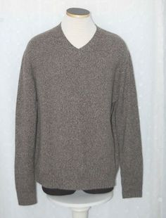 f7c2ad859b0 Banana Republic 100% Cashmere Brown V-Neck Sweater XL