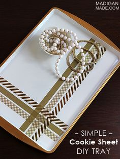 Make a Chic Tray From a Cookie Sheet - Best of DIY at Centsational Girl