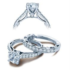 Shop online VERRAGIO WRE-10880 Vintage 18K - White Gold Diamond Engagement Ring at Arthur's Jewelers. Free Shipping