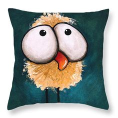 Bad hair day Throw Pillow by Lucia Stewart