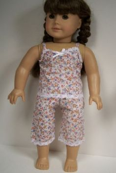 ae1d7b2d0 Details about SUMMER Baby-Doll Pants Top PJs Pajamas Doll Clothes For 18  American Girl (Debs)