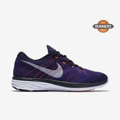 save off 4a892 07448 Chaussure de running Nike Flyknit Lunar 3 pas cher pour Homme  Noir Harmonie Mauve vif Blanc
